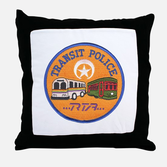 NOLA Transit Police Throw Pillow