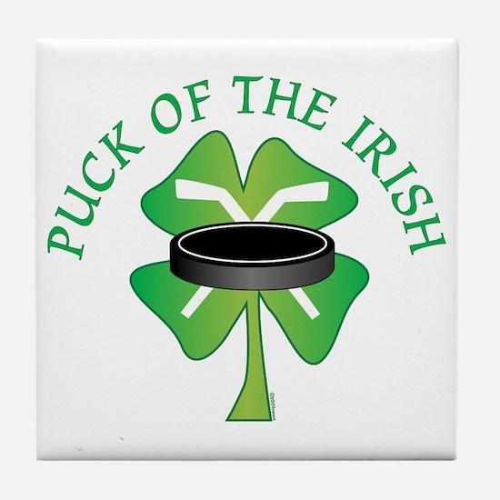 Puck of the Irish Tile Coaster
