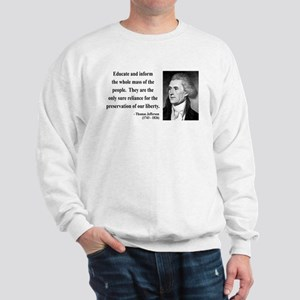 Thomas Jefferson 22 Sweatshirt
