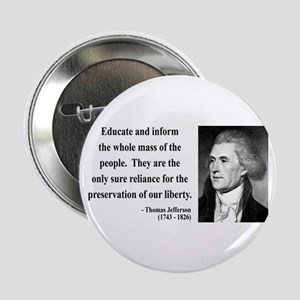 "Thomas Jefferson 22 2.25"" Button"