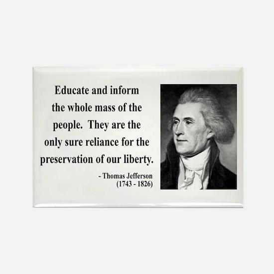 Thomas Jefferson 22 Rectangle Magnet