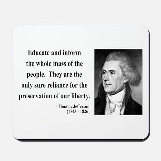 Thomas Jefferson 22 Mousepad