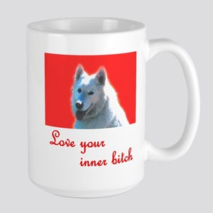 Love your inner bitch red Large Mug