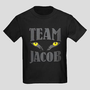 "Wolf Eyes ""Team Jacob"" Kids Dark T-Shirt"