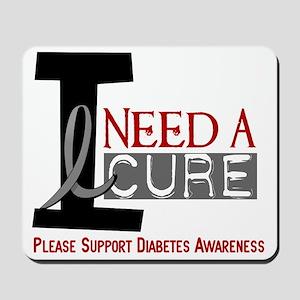 I Need a Cure Diabetes Mousepad
