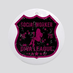 Social Worker Diva League Ornament (Round)