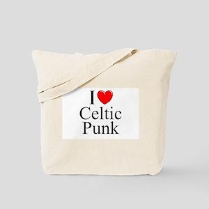"""I Love (Heart) Celtic Punk"" Tote Bag"