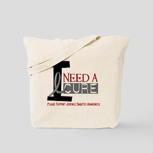 I Need A Cure JUVENILE DIABETES Tote Bag