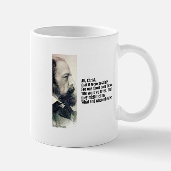 "Tennyson ""Ah Christ"" Mug"