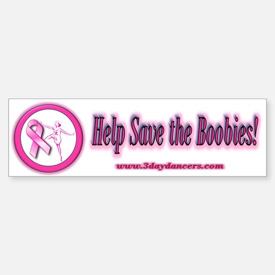 Save the BoobiesBumper Bumper Bumper Sticker