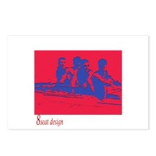 red/blue rower Postcards (Package of 8)