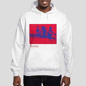 red/blue rower Hooded Sweatshirt
