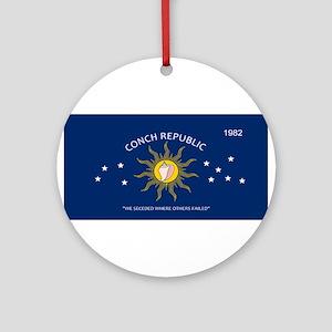 Conch Republic Plate Round Ornament