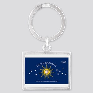 Conch Republic Plate Keychains