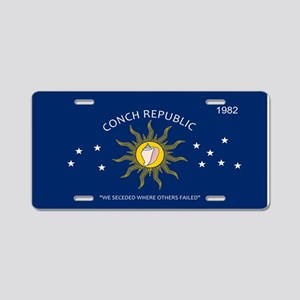 Conch Republic Plate Aluminum License Plate