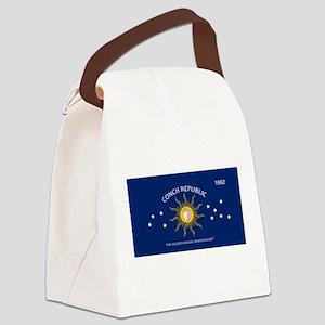 Conch Republic Plate Canvas Lunch Bag