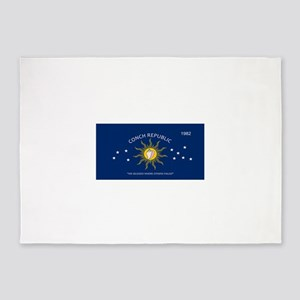 Conch Republic Plate 5'x7'Area Rug