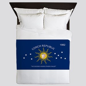 Conch Republic Plate Queen Duvet