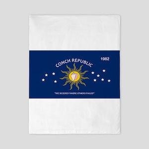 Conch Republic Plate Twin Duvet Cover