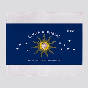 Conch Republic Plate Throw Blanket