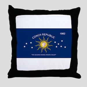 Conch Republic Plate Throw Pillow