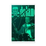 Mike Hunt On Drums 35x21 Wall Decal