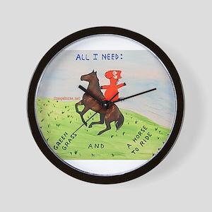 Orange Horserider Wall Clock