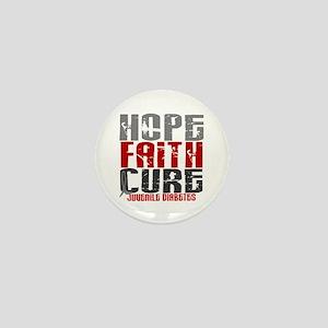 HOPE FAITH CURE Juvenile Diabetes Mini Button