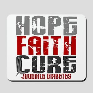 HOPE FAITH CURE Juvenile Diabetes Mousepad