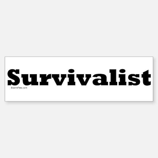 Survivalist Bumper Bumper Bumper Sticker