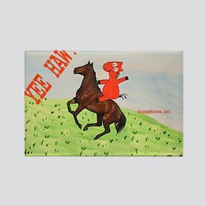 Horse Rider Rectangle Magnet