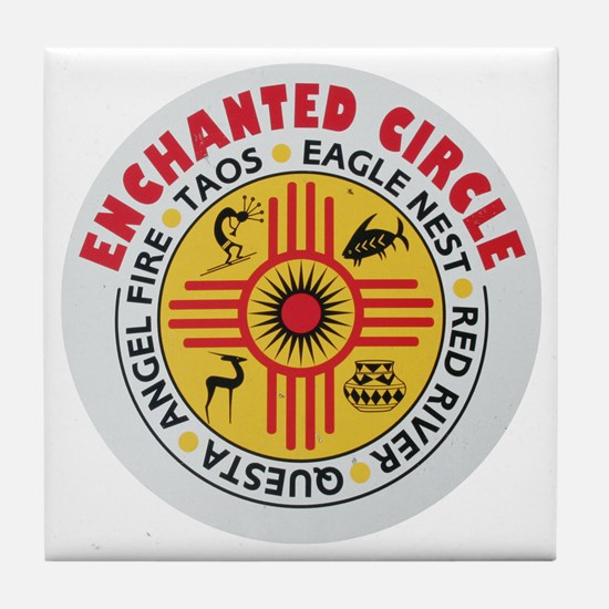 New Mexico's Enchanted Circle Tile Coaster