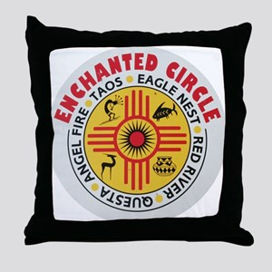 New Mexico's Enchanted Circle Throw Pillow