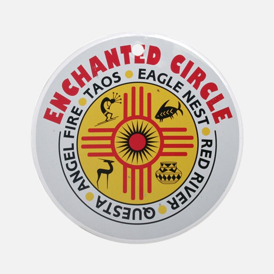 New Mexico's Enchanted Circle Ornament (Round)