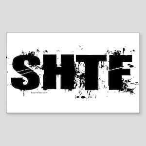 Shit Hits The Fan Rectangle Sticker