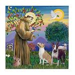 St Francis-2 Bull Terriers Tile Coaster