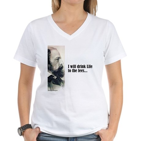 "Tennyson ""Drink Life"" Women's V-Neck T-Shirt"