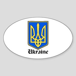 Ukraine: Heraldic Oval Sticker