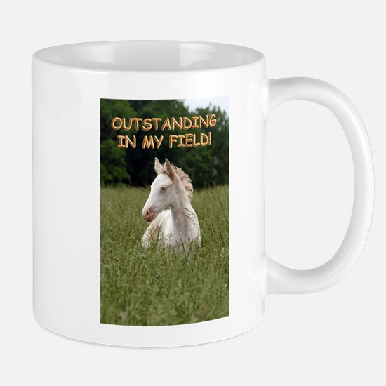 Outstanding  in My Field Mugs