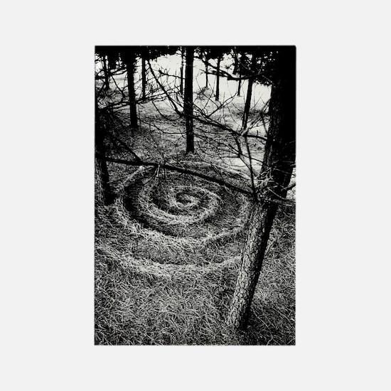 Pine Forest Spiral Rectangle Magnet