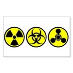 WMD / Chemical Weapons Rectangle Sticker