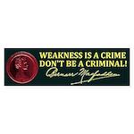 Bernarr Macfadden Slogan Bumper Sticker