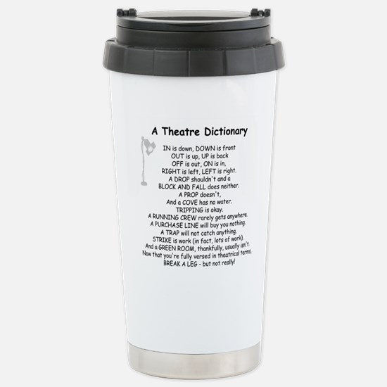 A Theatre Dictionary Stainless Steel Travel Mug