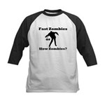 Fast Zombies or Slow Zombies Kids Baseball Jersey