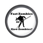Fast Zombies or Slow Zombies Wall Clock