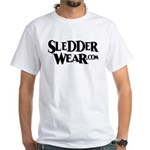 New SledderWear Logo White T-Shirt