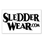 New SledderWear Logo Rectangle Sticker