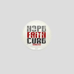 HOPE FAITH CURE Diabetes Mini Button