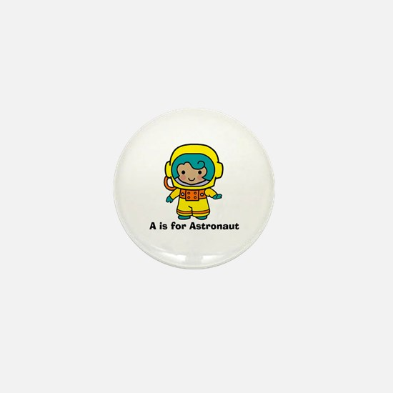 A is for Astronaut Girl Mini Button