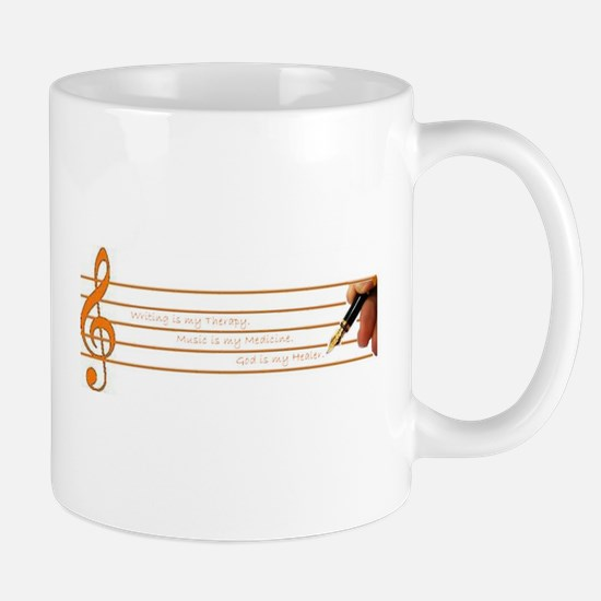 Music, Writing, God--My Survi Mug